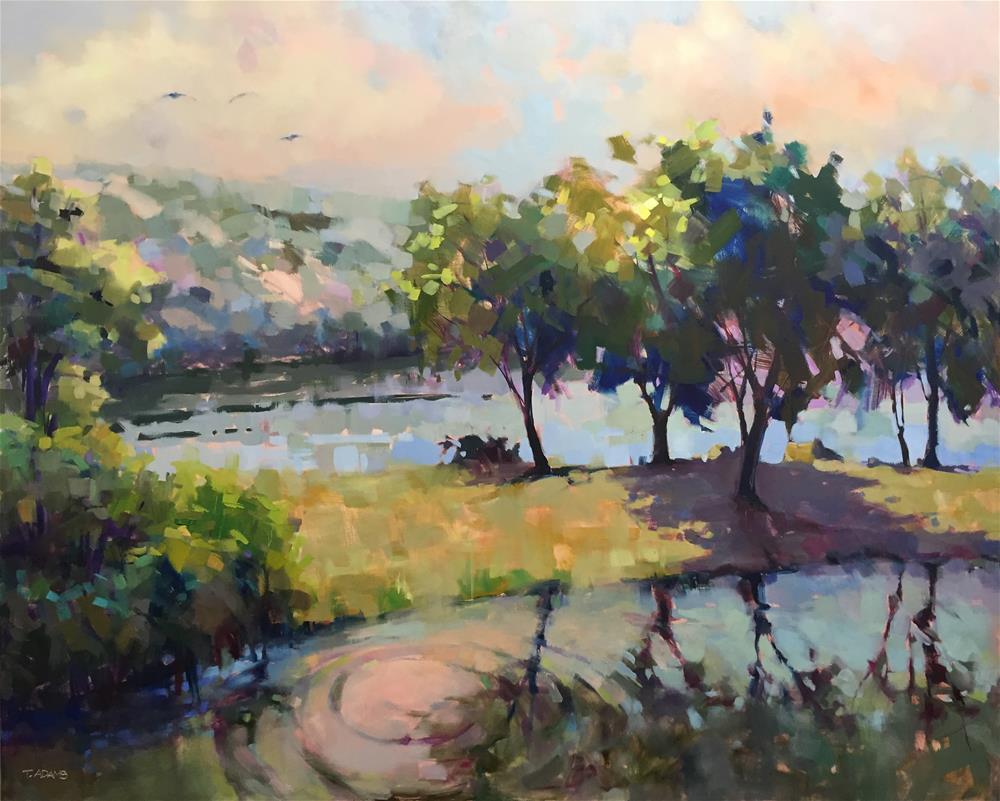 """Greene Lake"" original fine art by Trisha Adams"