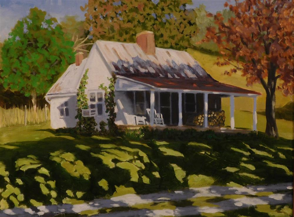 """Brown County Farmhouse"" original fine art by R. L. Einhaus"
