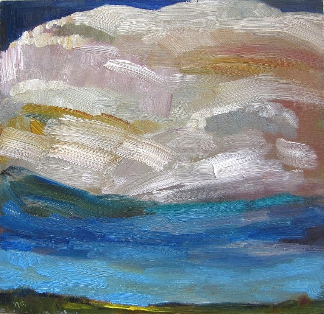 """Quirk 2: An Experimental Sky"" original fine art by Nicki Ault"