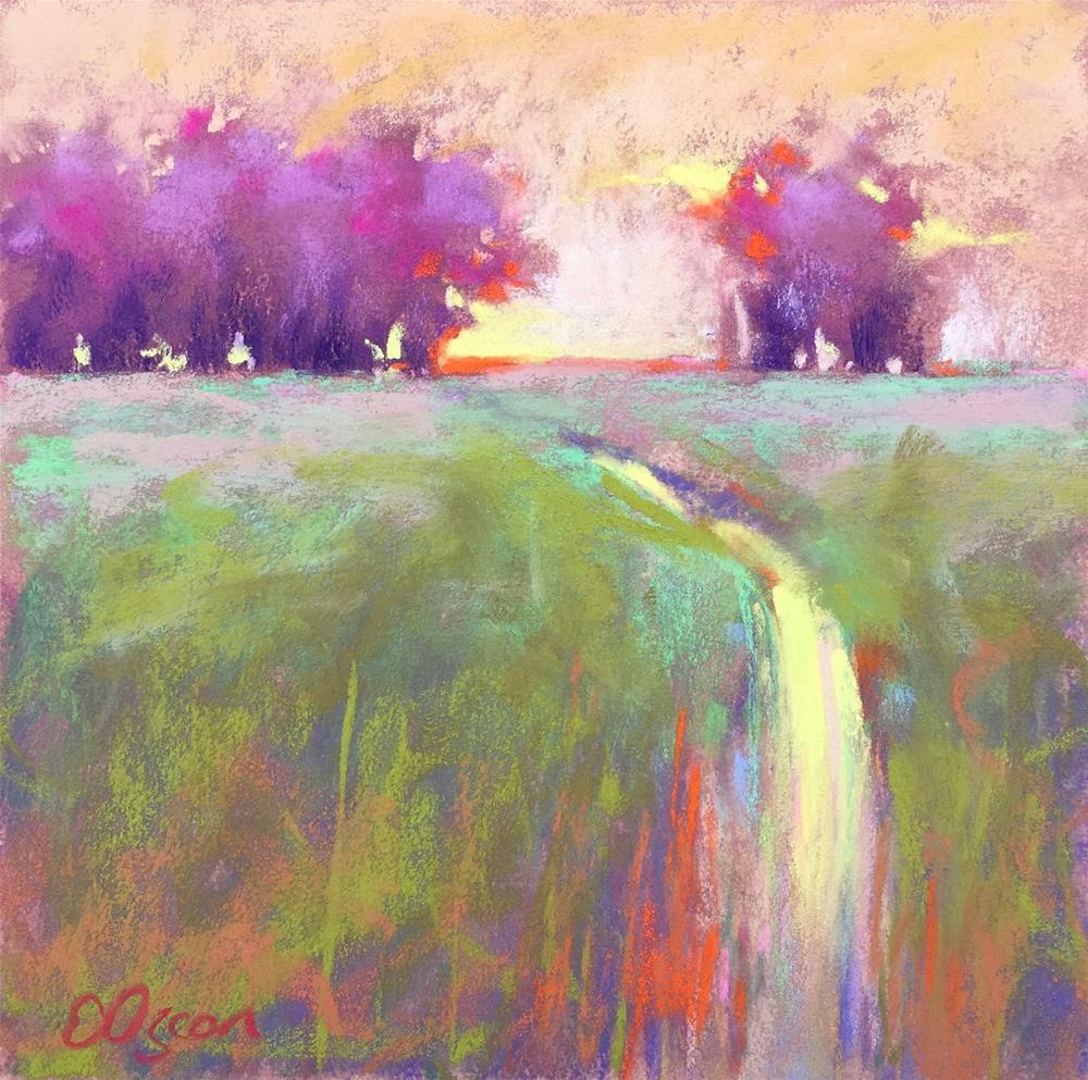 """""""Day End"""" original fine art by Elcin Ozcan"""