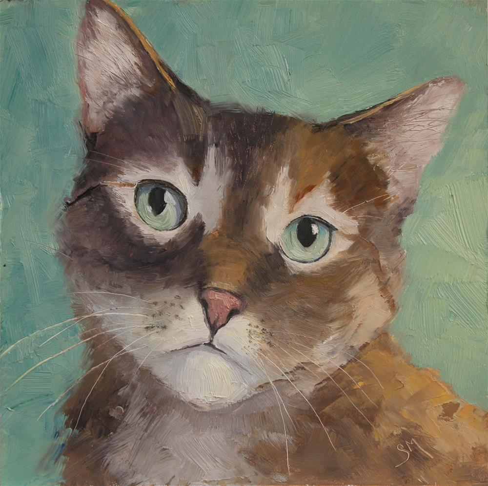 """Barney"" original fine art by Sheila Marie"