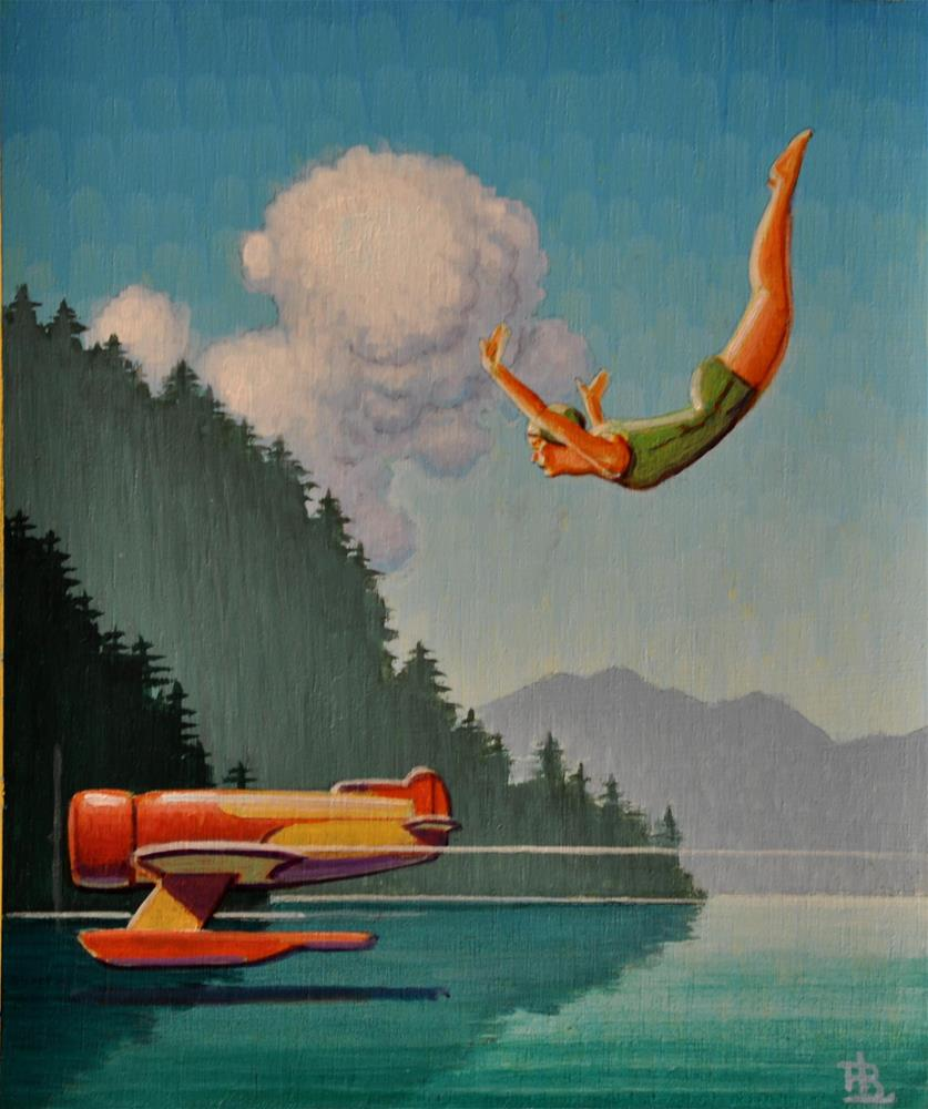 """Swimmer"" original fine art by Robert LaDuke"