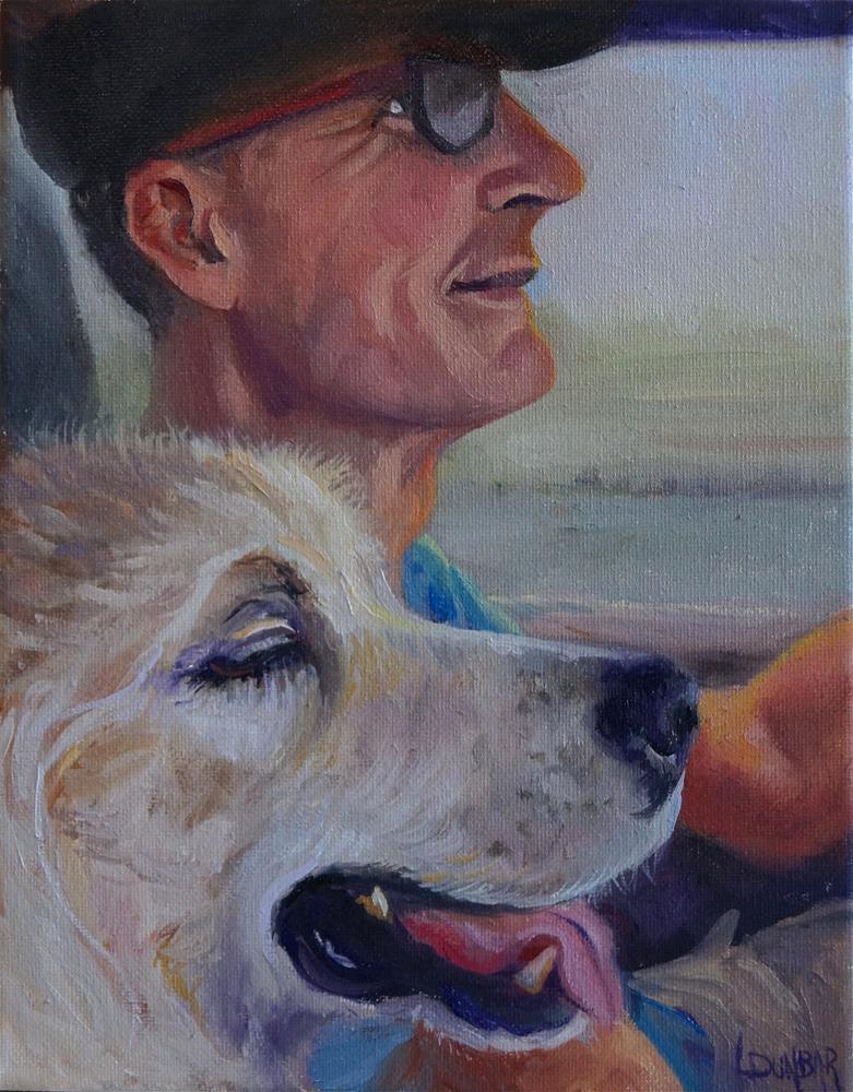 """""""Man's Best Friend"""" original fine art by Linda Dunbar"""