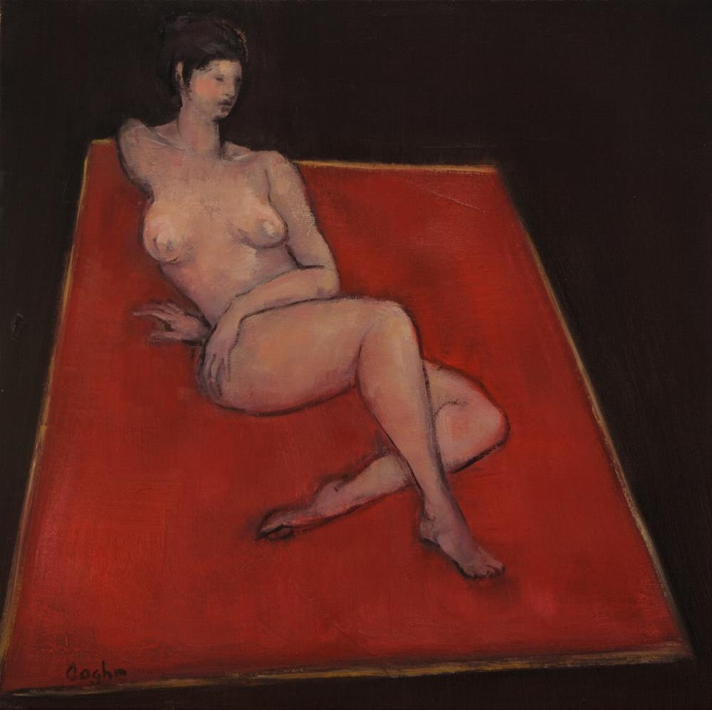 """Nude on Red Spread"" original fine art by Angela Ooghe"