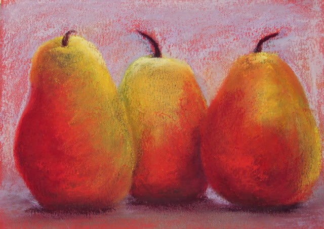 """""""October Pears"""" original fine art by Sharon Lewis"""