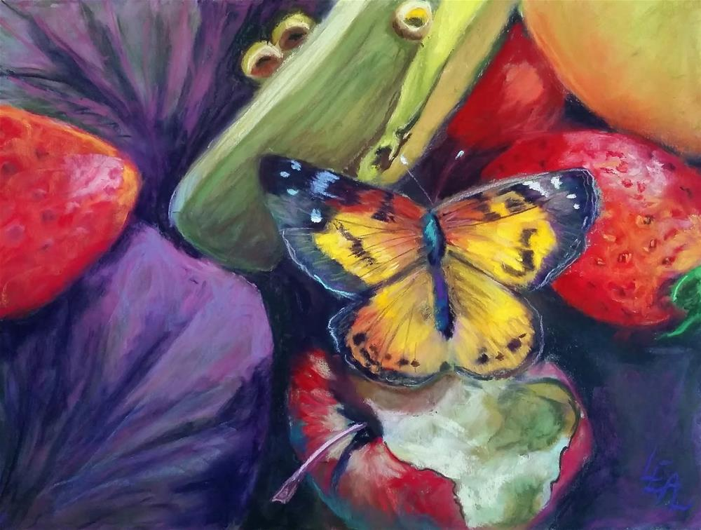 """Butterfly's Treasure"" original fine art by Anna Lisa Leal"
