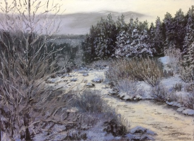 """LET IT SNOW!"" original fine art by Marti Walker"
