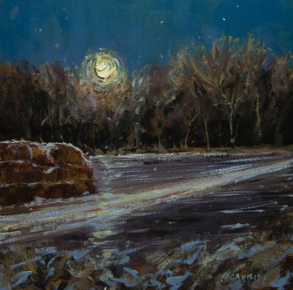 """Winter Moon"" original fine art by Joseph Loganbill"