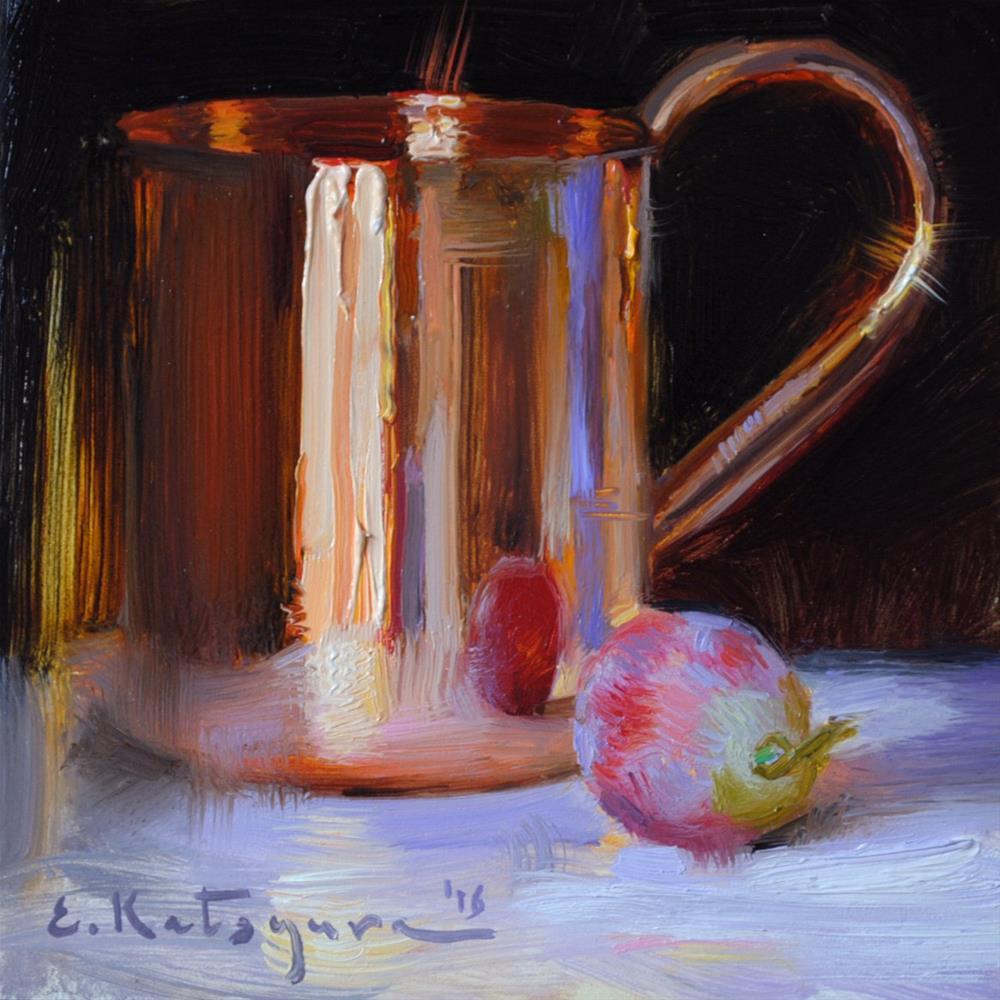 """Copper Mug"" original fine art by Elena Katsyura"