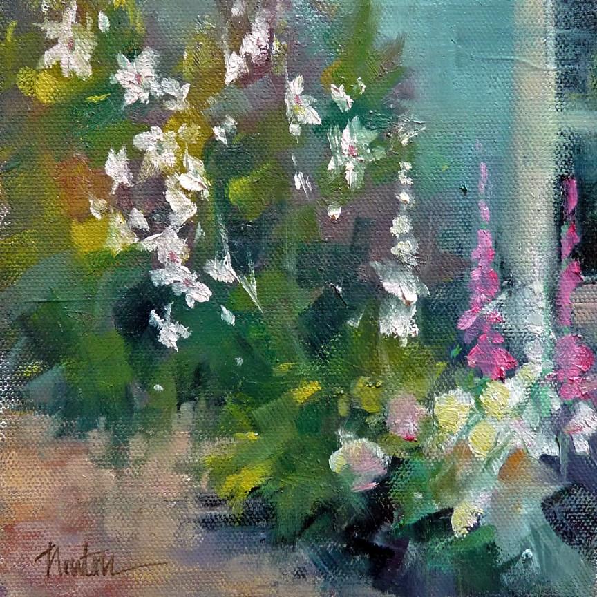 """""""Side Garden SUPER SUMMER SALE"""" original fine art by Barbara Benedetti Newton"""