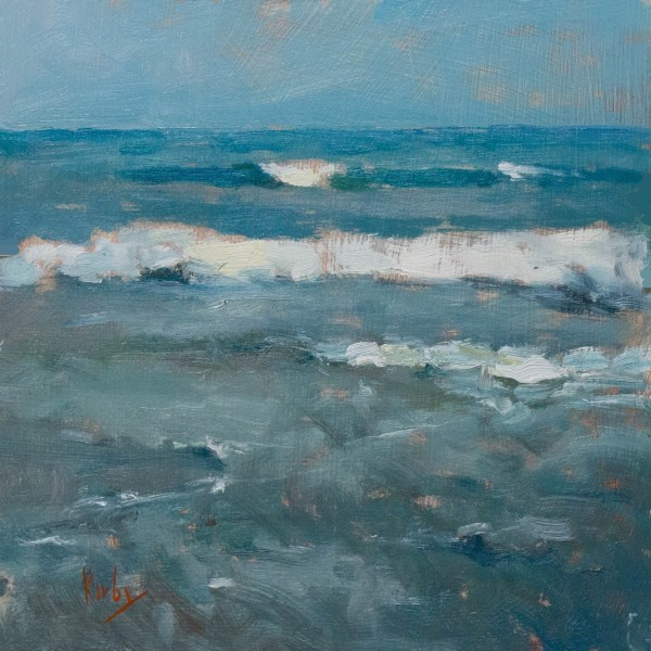 """Waters over Sand"" original fine art by Randall Cogburn"