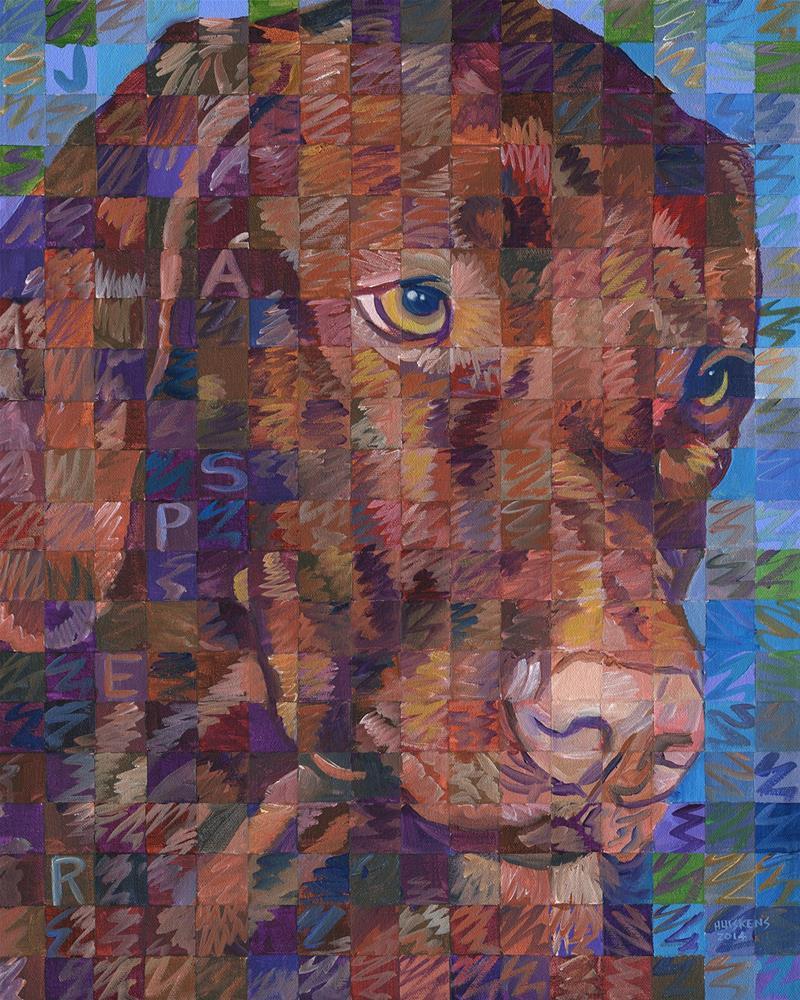 """Jasper"" original fine art by Randal Huiskens"