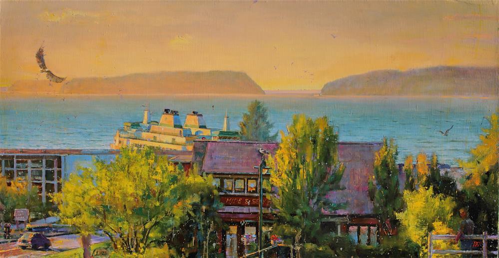 """Sunset on the Sound No. 3"" original fine art by Dimitriy Gritsenko"
