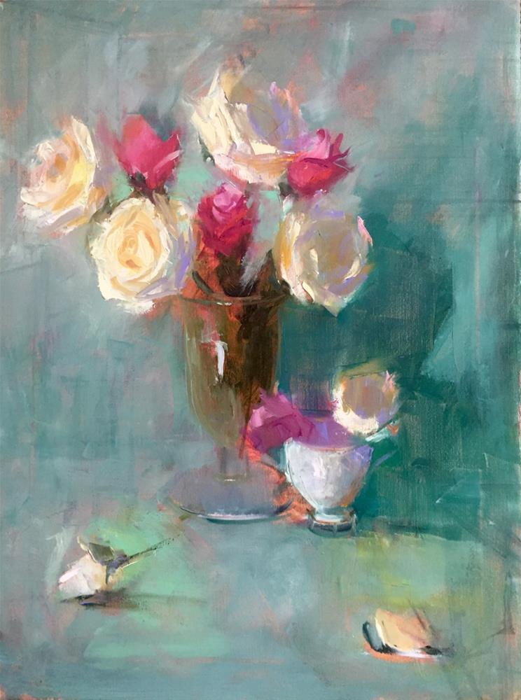 """Garden Blooms"" original fine art by Johanna Spinks"