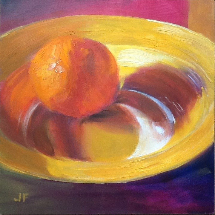 """Orange Reflections"" original fine art by Jean Fitzgerald"