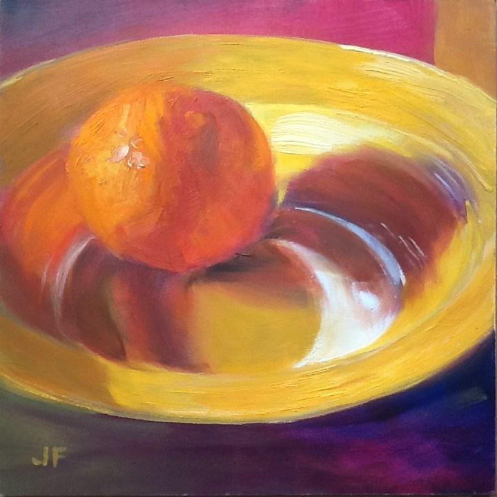 """Orange Reflections"" original fine art by Jean Fitzgerald"