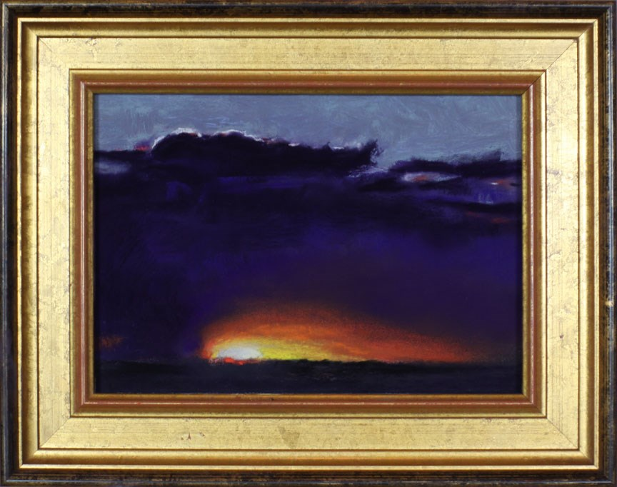 """Southwest Sunset"" original fine art by Pamela Poll"