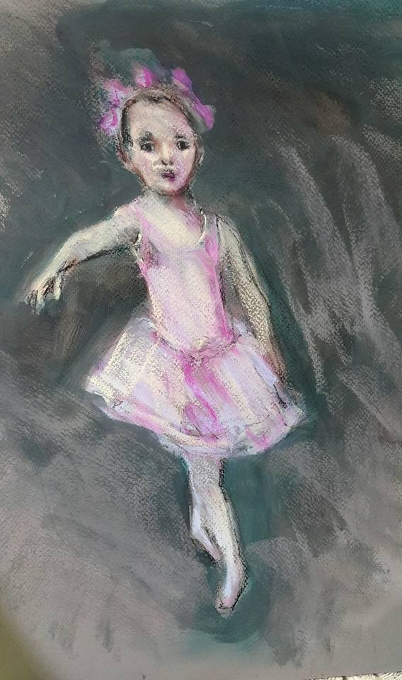 """Baby swan"" original fine art by Rentia Coetzee"