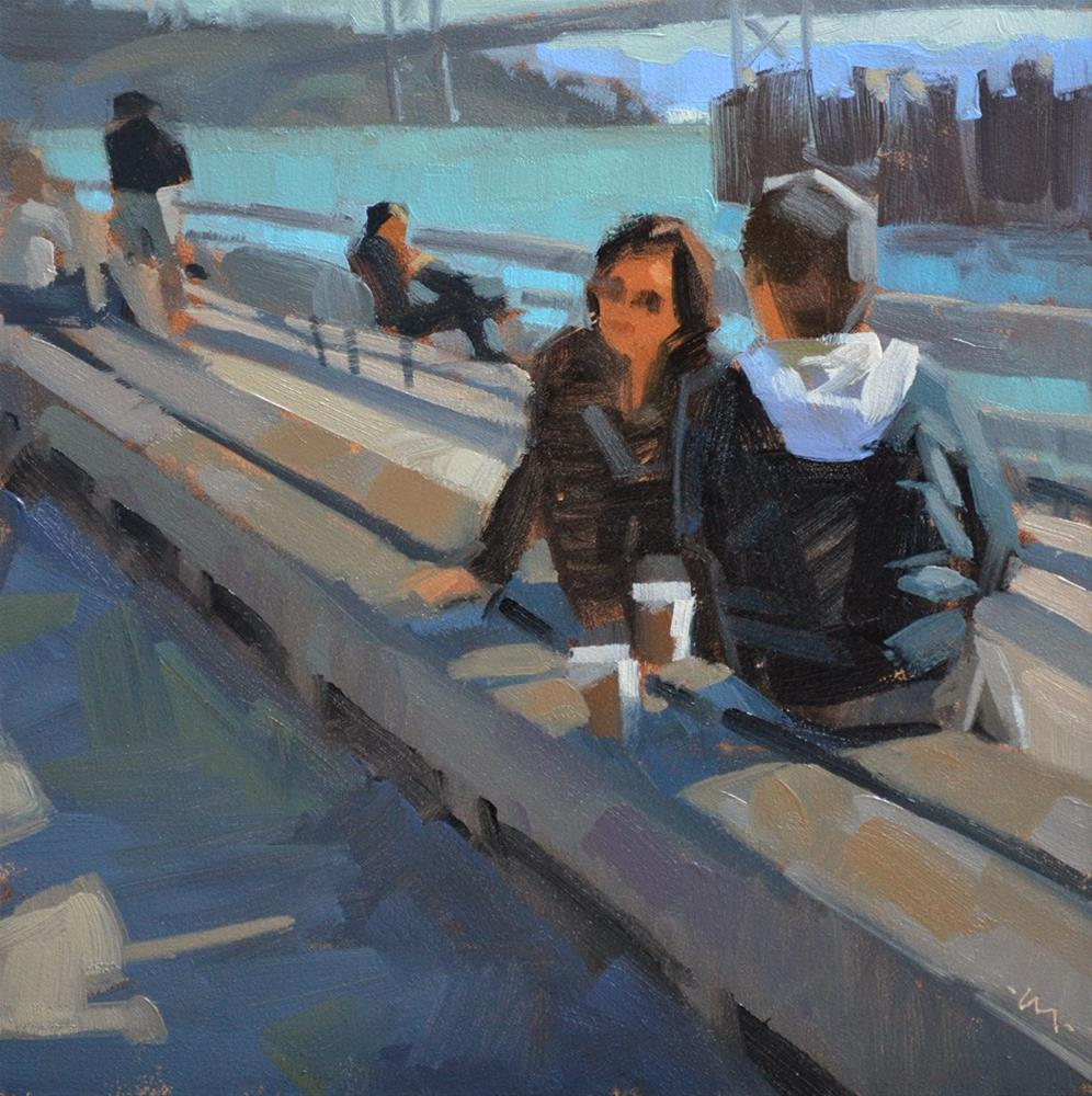 """Hangin at the Bay"" original fine art by Carol Marine"
