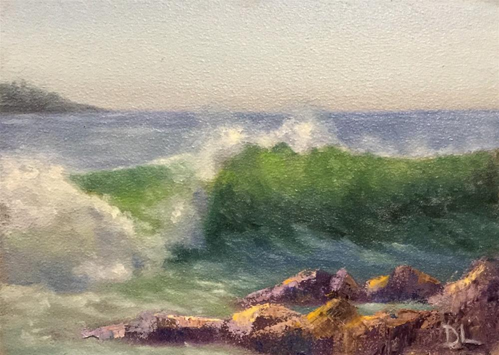 """The Wave #1625"" original fine art by Dee Lessard"