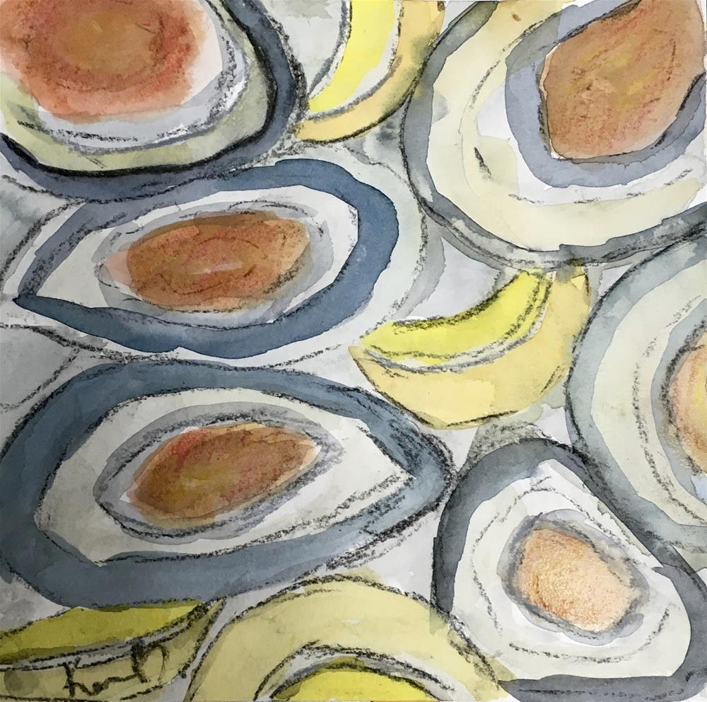 """Abstract Oyster"" original fine art by Kimberly Balentine"