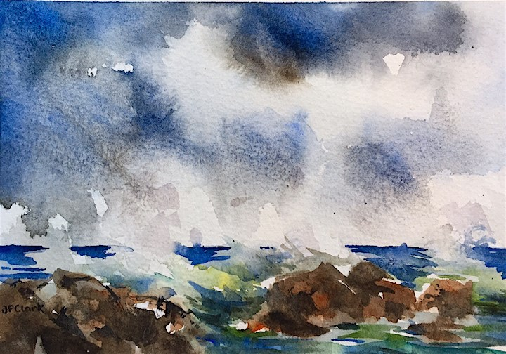 """Ocean Thunder"" original fine art by Judith Freeman Clark"