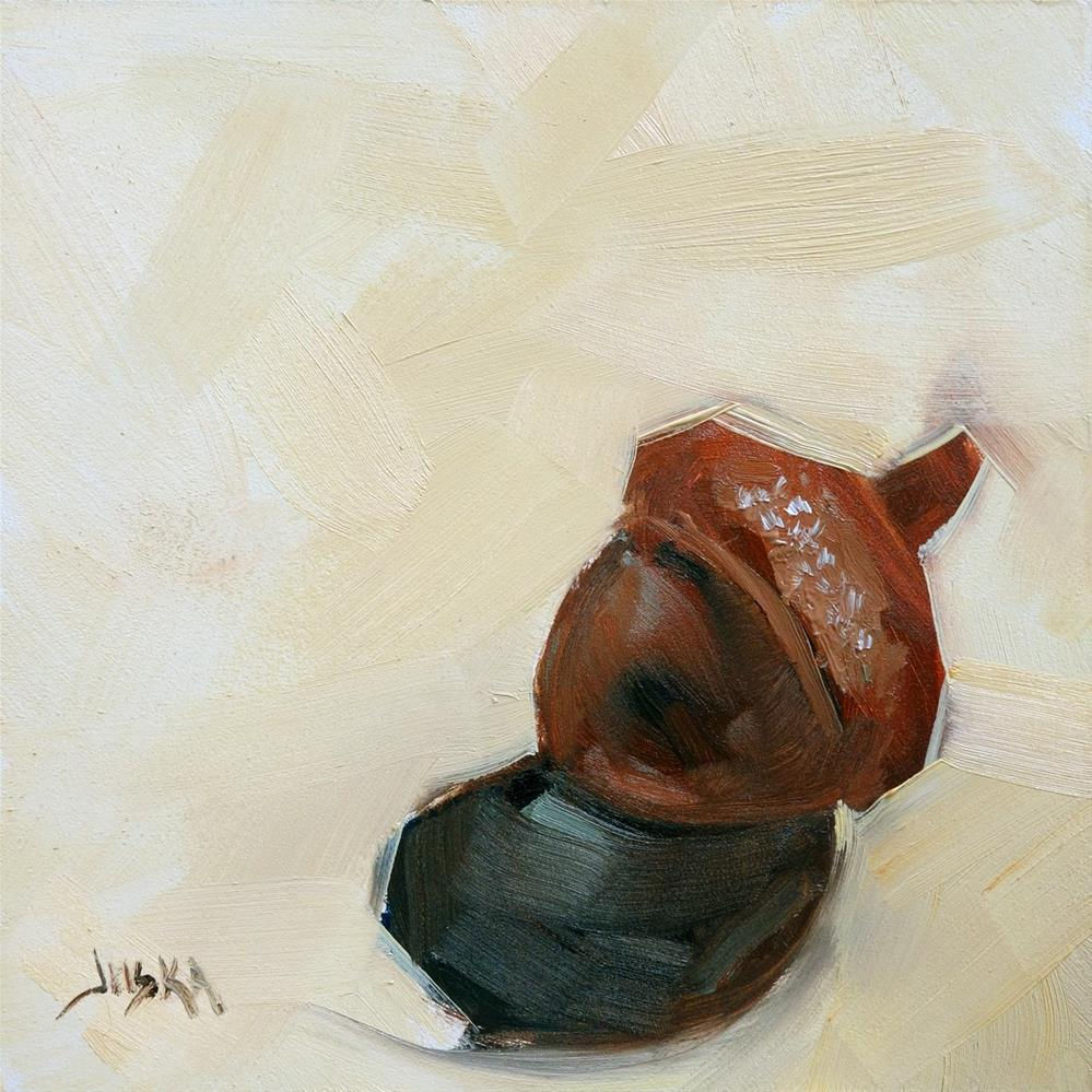 """Acorn Study - Brown"" original fine art by Elaine Juska Joseph"