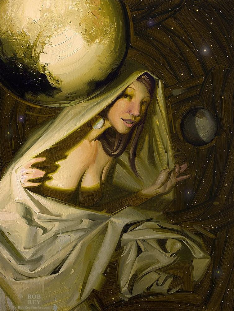 """Pluto Unveiled"" original fine art by Rob  Rey"
