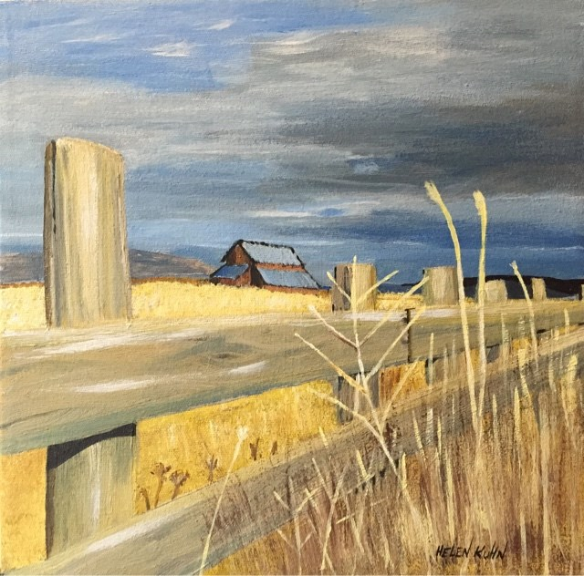 """Fenced In"" original fine art by Helen Kuhn"