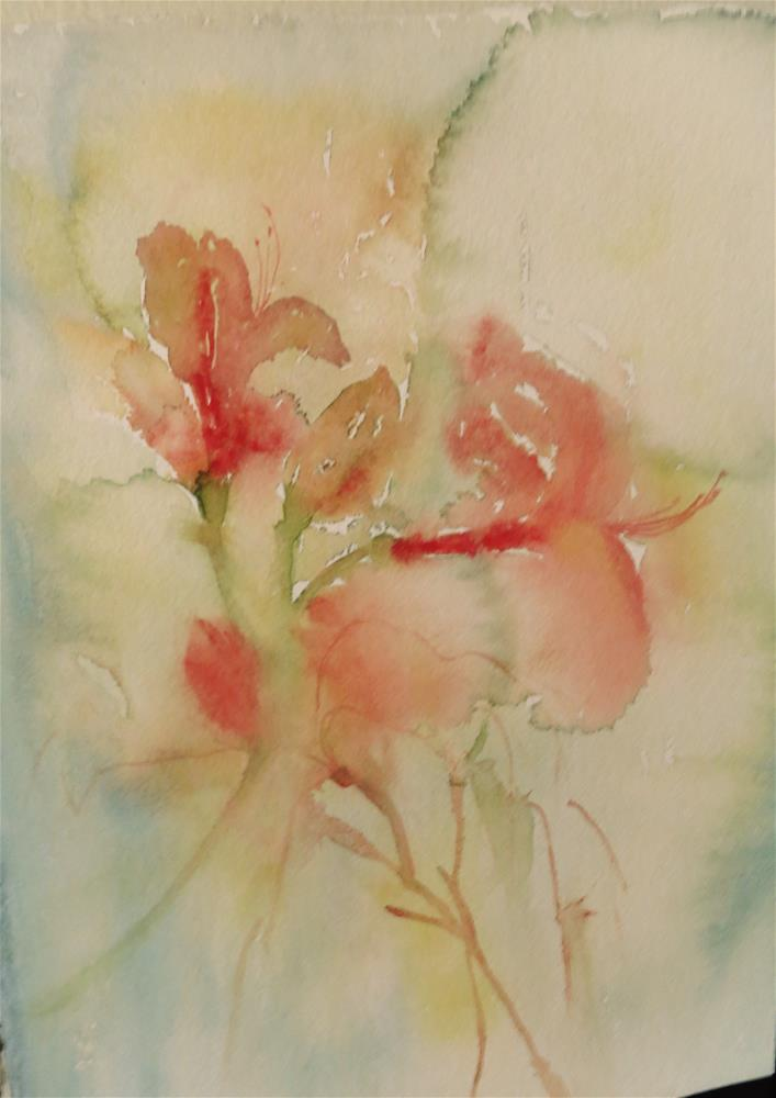 """Floral 083"" original fine art by Michelina Frey"