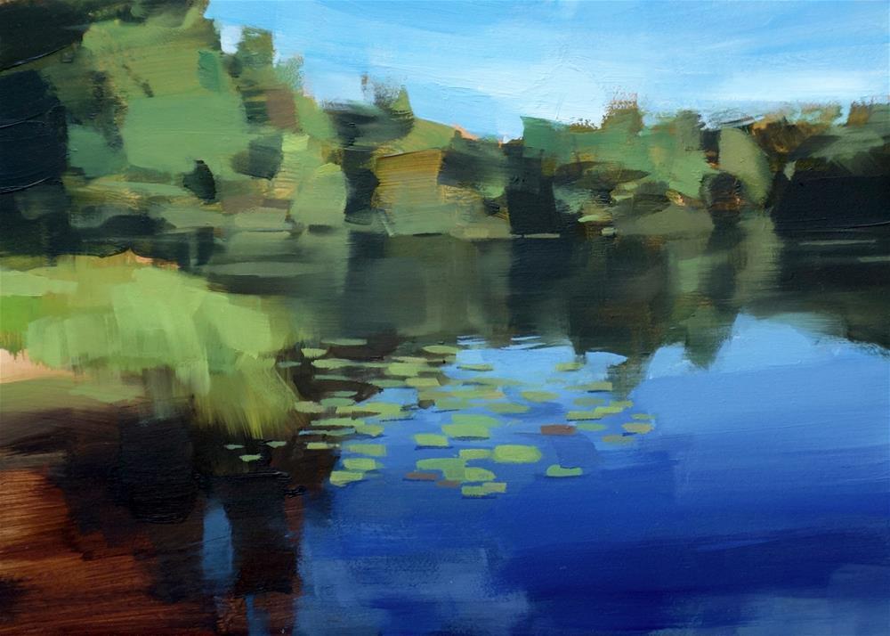 """Autumn Cove on Lake Monomonac, NH"" original fine art by Michael William"