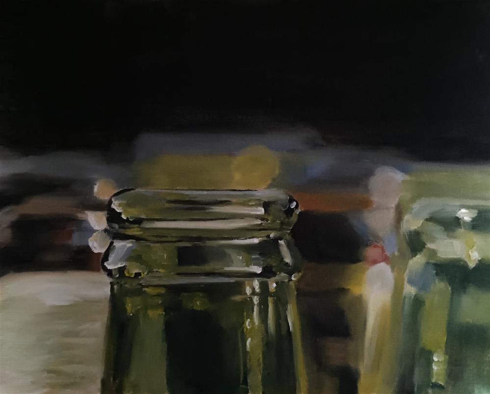 """Bottles"" original fine art by James Coates"