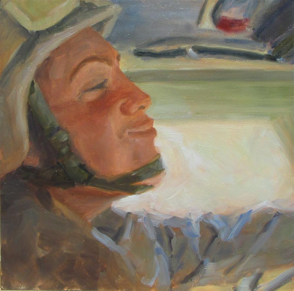"""Driving MRAP"" original fine art by Christine Lewis"