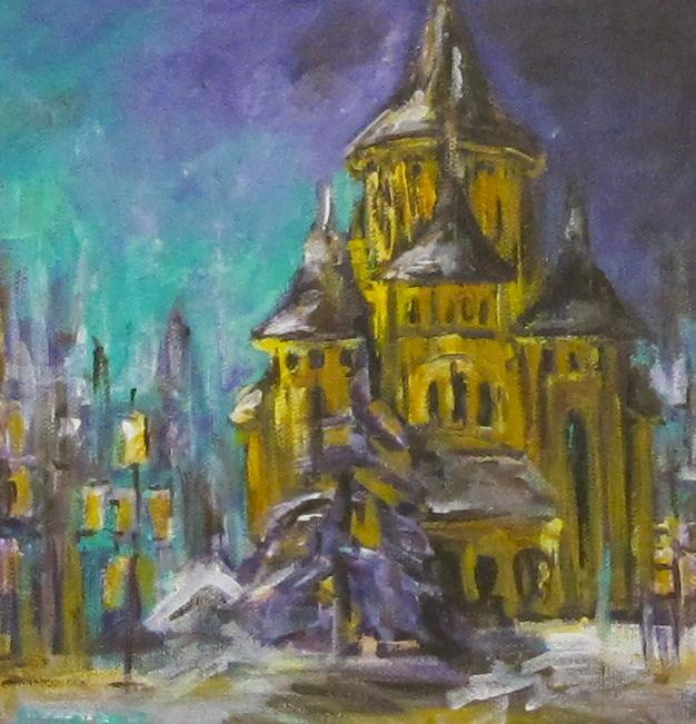 """Winter Evening"" original fine art by Alina Vidulescu"