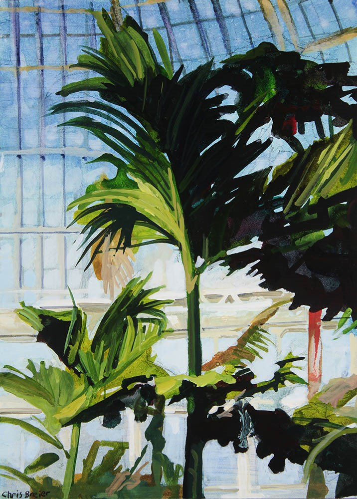 """Palm Trees"" original fine art by Chris  Breier"