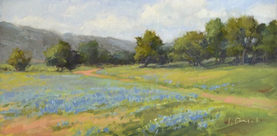 """Blanketed Hillside"" original fine art by Laurel Daniel"