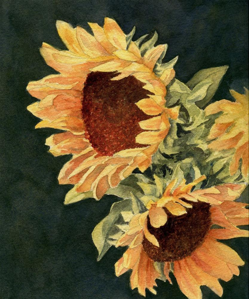 """Sunflower Season"" original fine art by Vikki Bouffard"