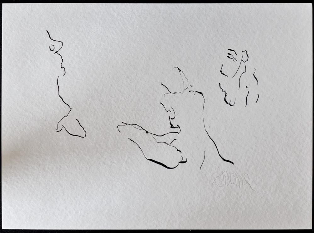 """VENUS CALLIPYGE AND THE MONKEY Ἀφροδίτη Καλλίπυγος"" original fine art by Craig Svare"