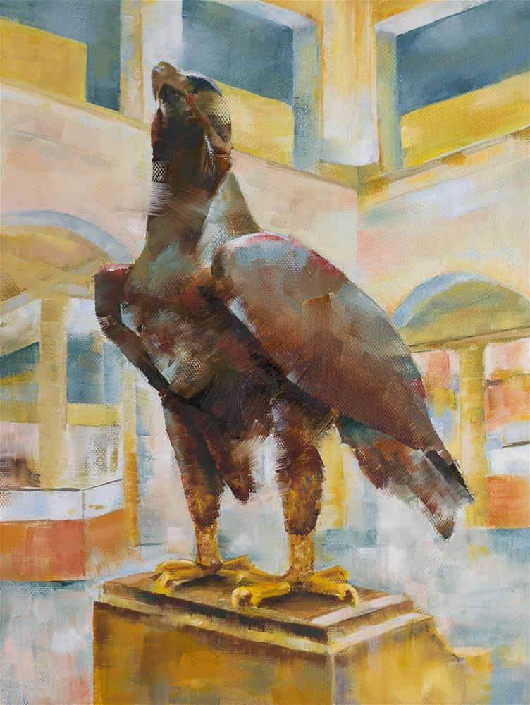"""Meet Me At The Eagle"" original fine art by Ruth-Ann Carlock"