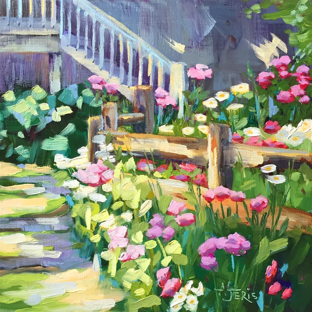 """Flower Path 2"" original fine art by Andrea Jeris"