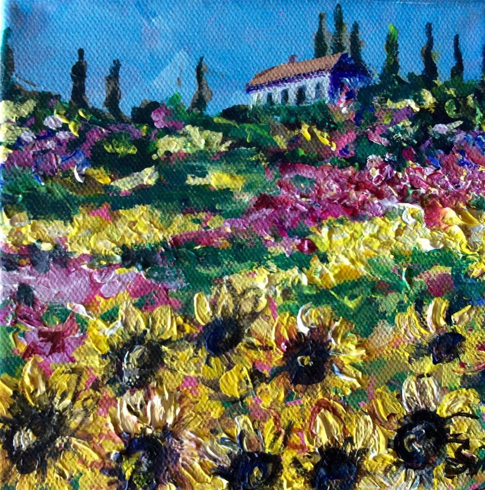 """""""Sunflowers in Tuscany"""" original fine art by Sonia von Walter"""
