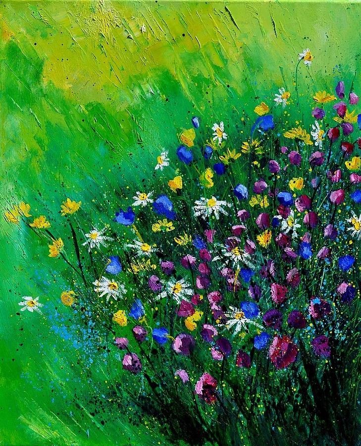 """wild flowers 561142"" original fine art by Pol Ledent"