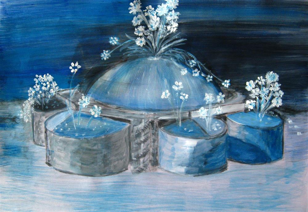 """Winter Garden"" original fine art by Alina Frent"