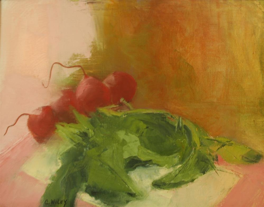 """Radishes"" original fine art by Carol Wiley"