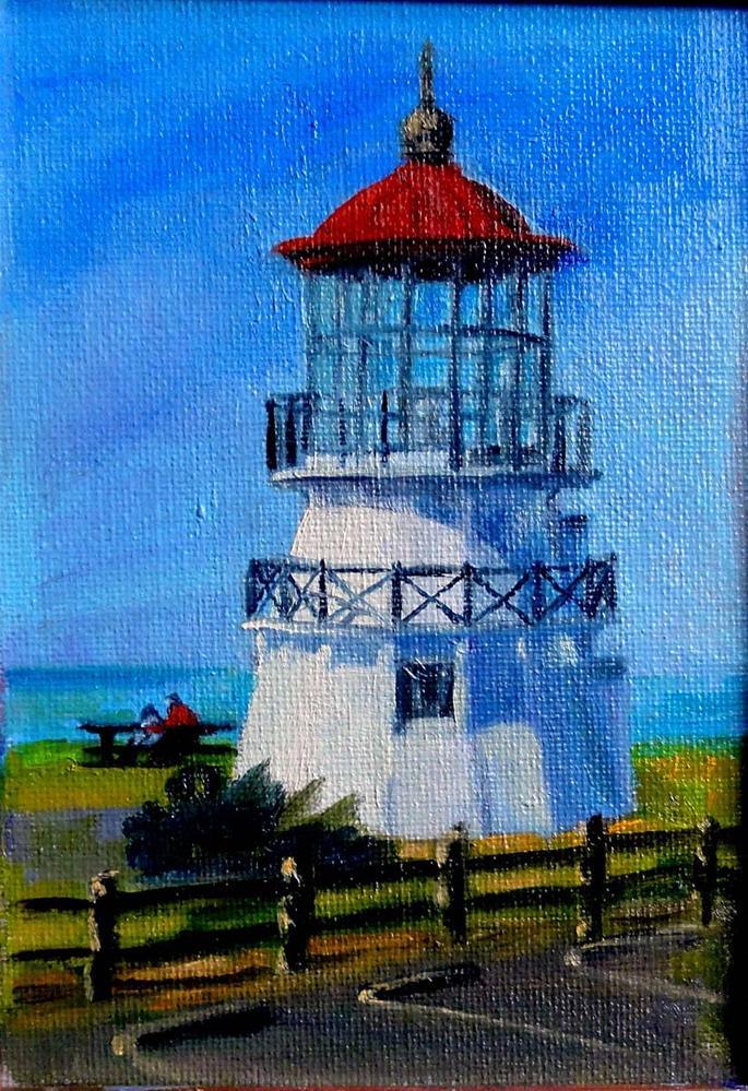"""Shelter Cove Lighthouse"" original fine art by Cietha Wilson"
