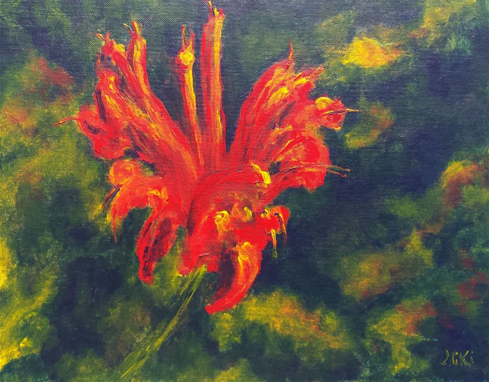 """Fire Flower"" original fine art by Niki Hilsabeck"