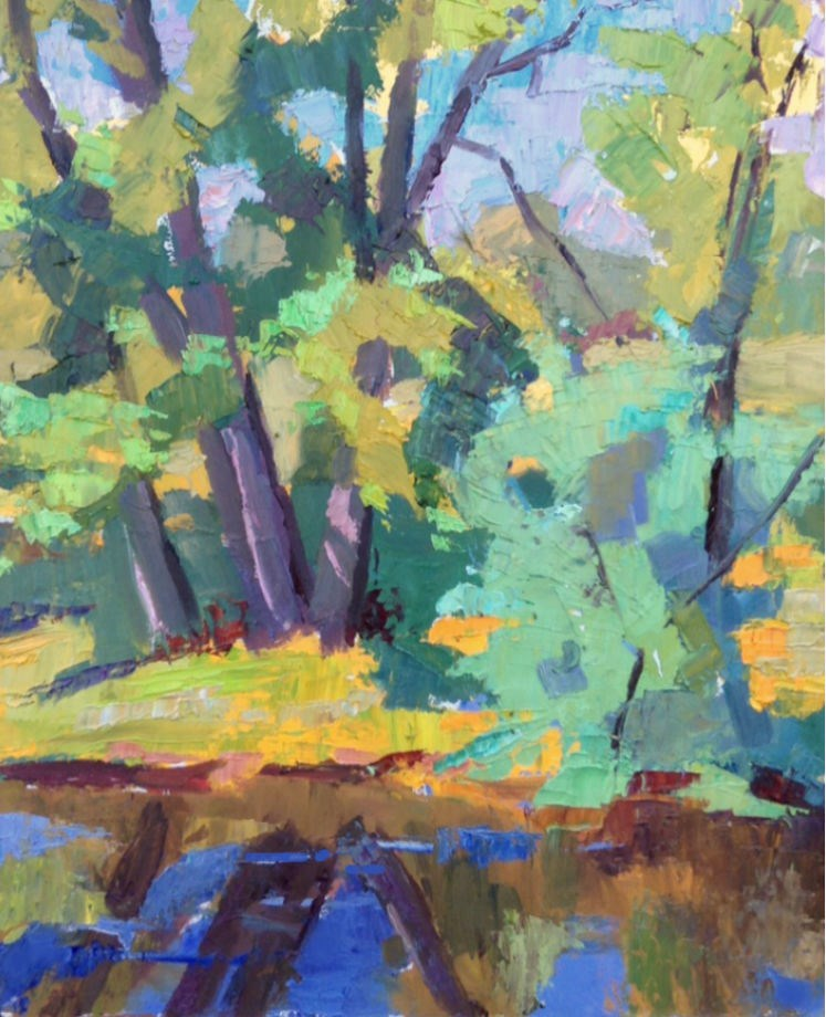 """ Summer Cornucopia "" original fine art by Michael McConnell"