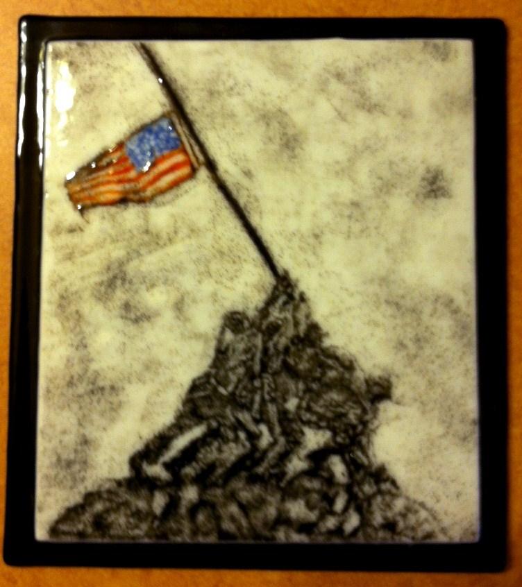 """Remember Iwo Jima"" original fine art by Kristen Dukat"