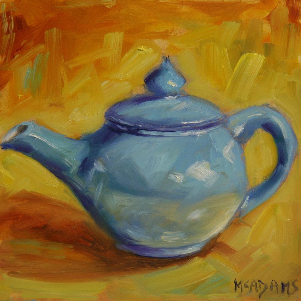 """Blue Teapot"" original fine art by Phyllis McAdams"
