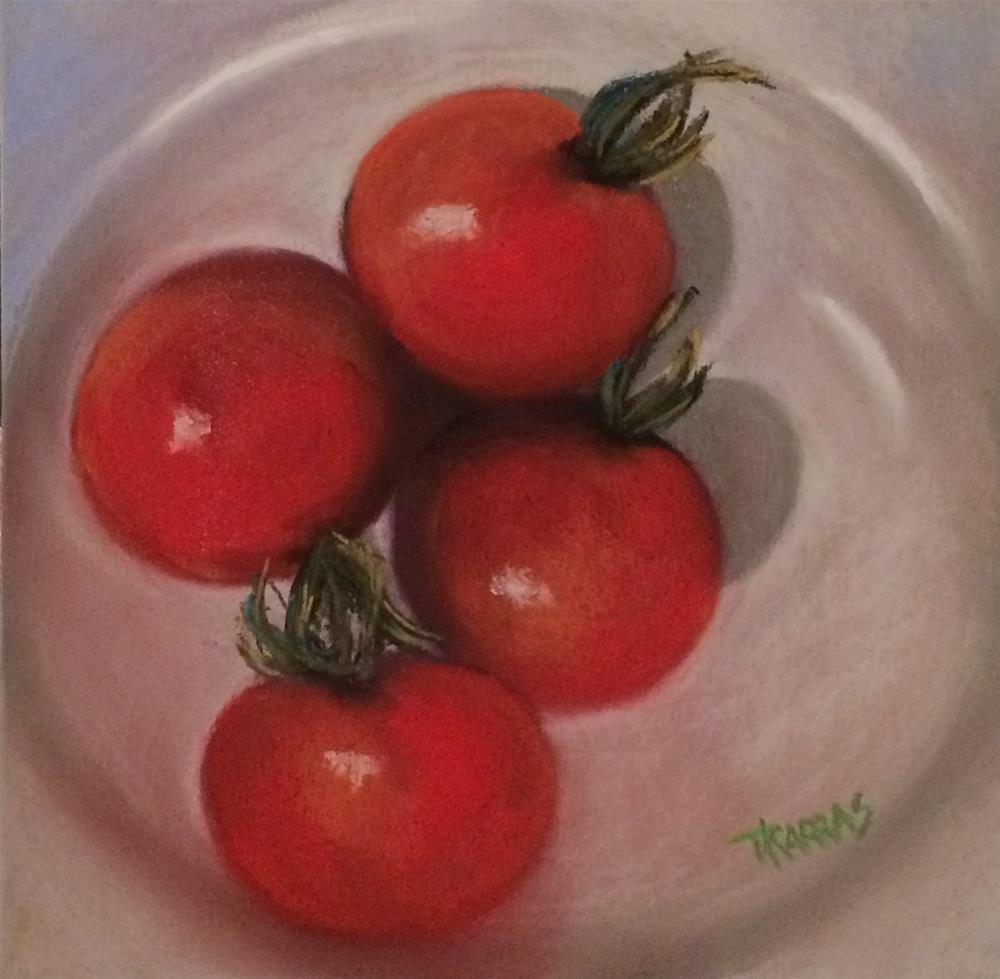 """Cherry Time"" original fine art by Christina Karras"